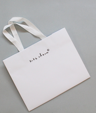 [BAG]Bag- White Shopping Bag(L)
