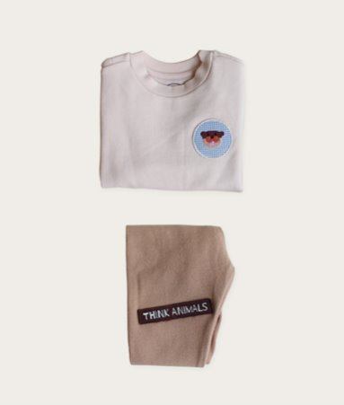 [THINK ANIMALS] Sweat Shirt Set_Otter