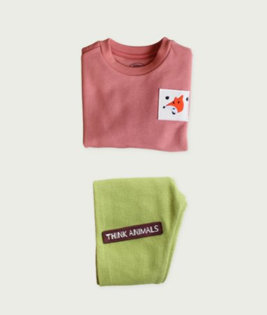 [THINK ANIMALS] Sweat Shirt Set_Fox