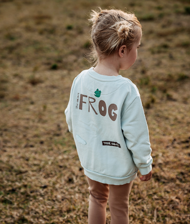 [THINK ANIMALS] Swear Shirt Set_Frog