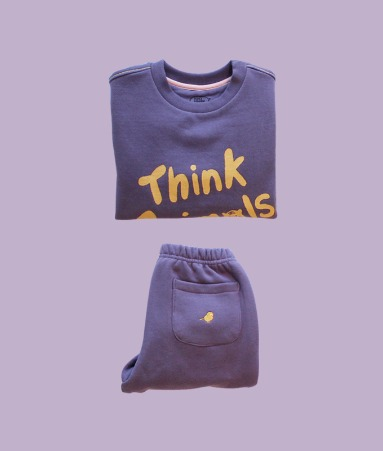 [THINK ANIMALS] Warm sweat shirt_Purple