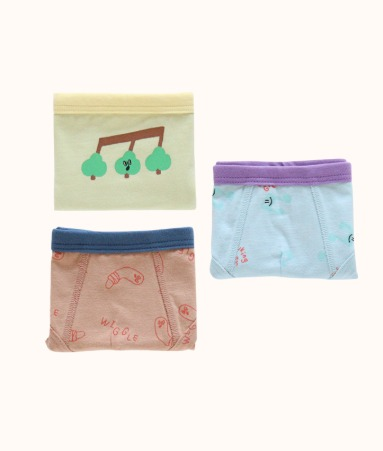 [UNDERWEAR]WALKING GREEN 3 pairs 1 SET_Boy